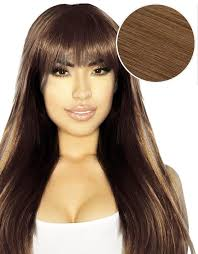 lilly hair extensions cleopatra clip in bangs chestnut brown 6 bellami bellami hair