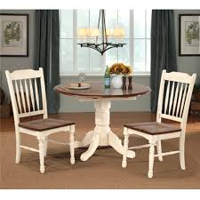 british isles 3 piece dining set drop leaf table with 2 slatback