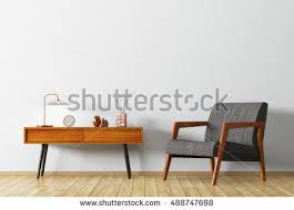 Armchair Side Table Interior Background Living Room Wooden Side Stock Illustration