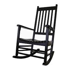 Patio Rocking Chairs Wood Shop International Concepts Black Acacia Patio Rocking Chair At
