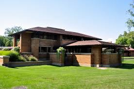 frank lloyd wright inspired home with lush landscaping frank lloyd wright inspired house plans house plans 52620