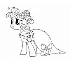 my little pony stylish twilight sparkle coloring page for kids