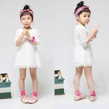 new children floral lace formal party dress kids mini skirt