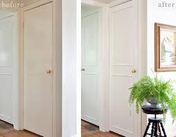 Interior Door Trim The Painted Hive How To Add Trim To Plain Doors