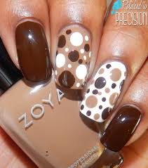 cute thanksgiving nails dots dotticure nail art brown nail art pinterest brown