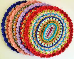 karmic mandala placemats pdf crochet instant download pattern