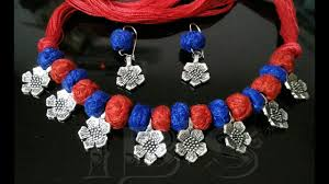 necklace making charms images Ch hj handmade necklace made by thread ball silver charms jpg