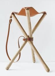 wood u0026 faulk camp stool chestnut garmentory