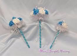 Bridesmaid Flowers Wedding Flowers Turquoise Blue Foam Roses Bridesmaid Flower