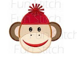 Monkey Sconces Monkey With Banana Applique Machine Embroidery Design No 0019