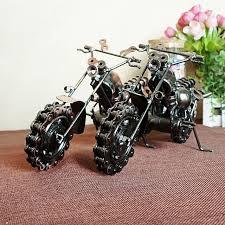 metal ornaments home decor cool retro iron motorcycle model ornaments vintage metal motorbike
