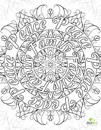 peace family joy love free coloring book pages to print