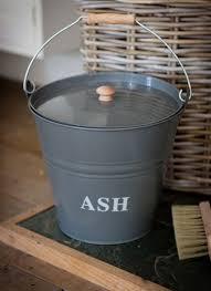 ash bucket in charcoal steel garden trading