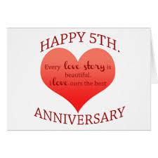 happy 5th wedding anniversary cards happy 5th wedding anniversary