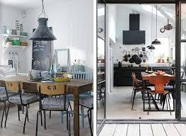 Chaise Industrielle Métal Noir Antique Déco Industrielle Idées Déco Une Salle à Manger Industrielle Made In Meubles