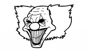 coloring pages of scary clowns scary clown drawing drawing pencil