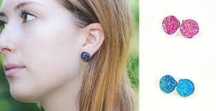druzy stud earrings druzy stud earrings 18 color choices