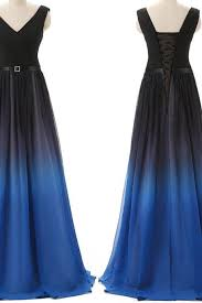 navy blue ombre prom on luulla