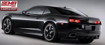camaro car black sema 2010 chevy camaro black concept