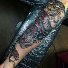 nice forearm sleeve snake tattoos golfian com