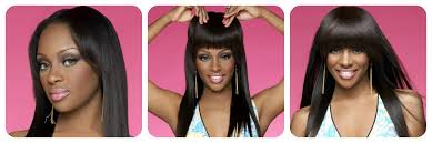 hair clip ins light yaki american clip in bangs fringe for black women