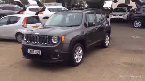 gray jeep renegade jeep renegade longitude grey 2016 youtube