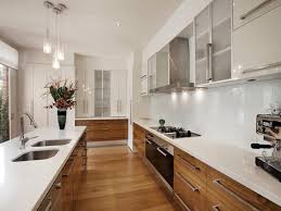 Galley Style Kitchen Remodel Ideas Galley Kitchen White Cabinets Winters Texas Us
