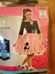 child 50s sock hop sz 8 10 pink poodle skirt costume halloween