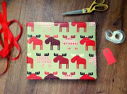 reversible christmas wrapping paper buffalo plaid moose reversible gift wrap rustic country