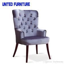 Luxury Dining Chairs 2018 Luxury Dining Chairs Grey Red Blue Sofa Lobby Chair Metal