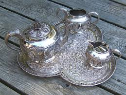 silver matching services sterling silver tea service with tray india c1860 item 7281