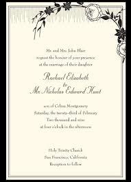 wedding invitations format wedding invitations exles marialonghi