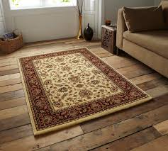 Traditional Rugs Legacy Cream Red Luxury Leaf Traditional Rugs Martin Phillips
