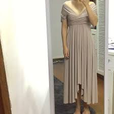 light grey infinity dress infinity dress light grey preloved women s fashion clothes on