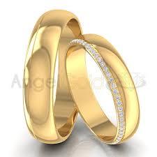 obraczki slubne obrączki ślubne z brylantami po obwodzie angel gold