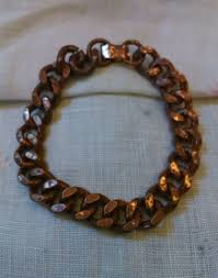 solid copper chain bracelet images Men 39 s vintage solid copper heavy chain link bracelet foldover jpg