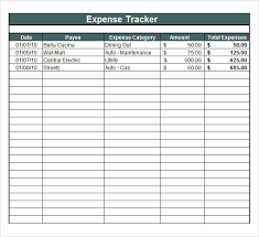 Expense Tracker Template For Excel Expense Tracking Template 7 Free Documents In Pdf
