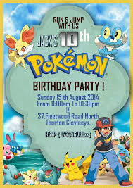 template classic pokemon card birthday invitation template with