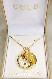 necklace pendants australia images Australian gold silver leaf yin yang beechworth gold jpg