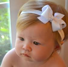 newborn hair bows white baby bow headband christmas baptism wedding baby hair