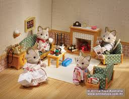 Sylvanian Families Deluxe Living Room Set SF  Online Toys - Sylvanian families luxury living room set