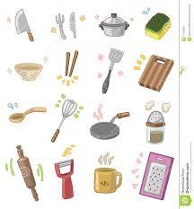 dessins de cuisine ustensiles de cuisine de dessin animé illustration de vecteur