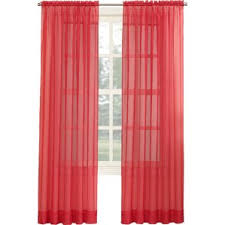 Bright Red Sheer Curtains Red Curtains U0026 Drapes You U0027ll Love Wayfair