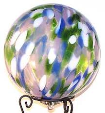 blown glass gazing balls garden gazing globes iron elegance