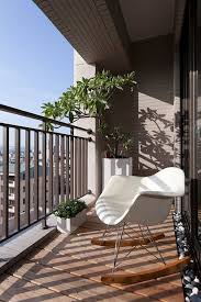 metal balcony railing design with unique chair for modern home