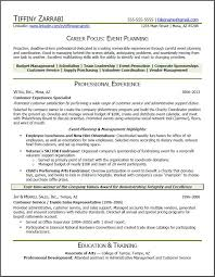Statistician Resume Sample by Event Planner Resume Event Planner Resume Career Transition