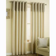 Curtain Band Pleated Band Eyelet Curtains Ivory