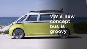 volkswagen beach volkswagen u0027s electric concept bus is far out man video