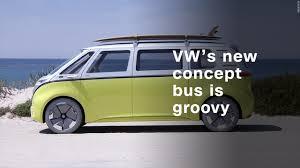 volkswagen beach volkswagen u0027s electric concept bus is far out man video