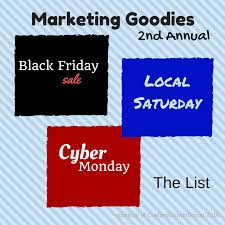 black friday small business saturday cyber monday marketing goodies 2nd annual black friday cyber monday list